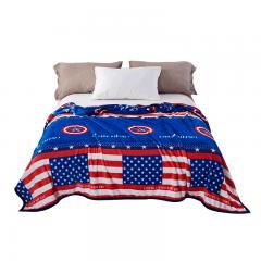 雅鹿·自由自在 毛毯加厚法兰绒毯子 毛巾被午睡空调毯珊瑚绒盖毯冬季床单 150*200cm 队长