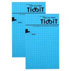 日本国誉(KOKUYO)TidbiT自由撕便条纸(5mm方格) B7/80页(130*80mm) 蓝 1本装 ME-F22B
