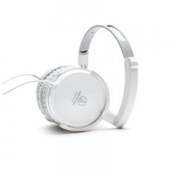铁三角 FC707 折叠便携头戴式音乐耳机 白色 手机耳机 立体声