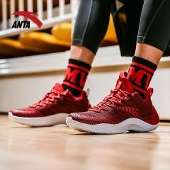 安踏 ANTA  男鞋球鞋 汤普森KT要疯二代 篮球鞋战靴运动鞋 11841304 大学红/安踏白/黑 9.5(男43)