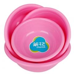 茶花 洗脸盆30CM塑料盆子家务清洁洗菜盆 0506