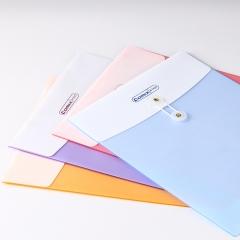 齐心(COMIX)A1829 双袋绳扣档案袋/文件袋/资料袋A4 竖式 10个装 蓝色