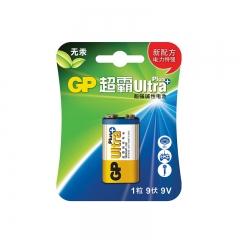 超霸(GP)碱性电池 9V U能高性能数码伴侣1粒装 适用于玩具遥控器/无线麦克风等