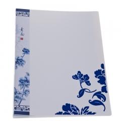 广博(GuangBo)60页资料册(青花系列) 白蓝颜色随机 单个装A3026