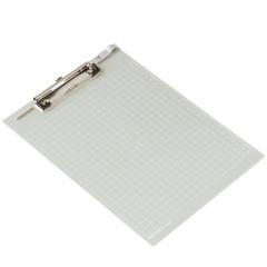 得力(deli)网格/直尺多功能板夹 会议书写资料夹 灰白9240