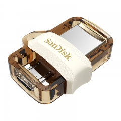 闪迪 (SanDisk) 64GB Micro USB3.0 U盘 DD3酷捷 香槟金色 读速150MB/s 安卓手机平板三用 便携APP管理软件