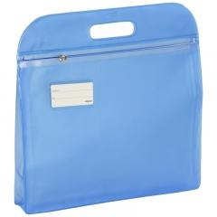 金得利 W68TC A4手提拉链袋文件袋 蓝色12个装