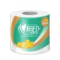 心相印卷纸 心柔系列卫生纸巾3层180g*10卷筒纸厕纸(提装销售)
