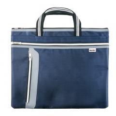 探戈手提公文包事务包文件袋 防水大容量商务办公手提侧袋文件包 蓝色