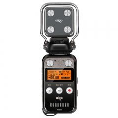 爱国者(aigo)录音笔 R5533 16G 专业麦头可分离 50米超远距离录音 会议/采访取证 MP3播放器 锖色
