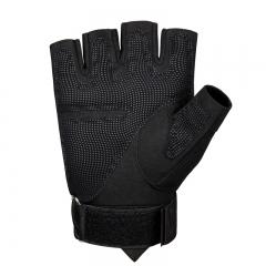 卡帝乐鳄鱼战术手套半指防割防滑登山运动军迷户外训练护具健身男士手套K83S677 黑色 M