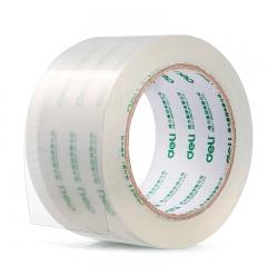 得力(deli)高品质高透明封箱胶带打包胶带 60mm*100y*50um(91.4m/卷) 6卷/筒 办公用品 30325