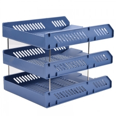 广博(GuangBo)加厚三层文件盘/资料架/文件架/办公用品 颜色随机 单个装WJK9226