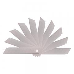 得力(deli)50片装大号加厚合金钢美工刀片 10片/盒 办公用品 2011-05