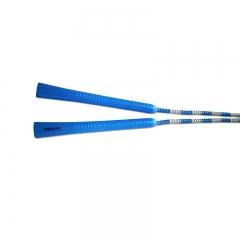 普为特POVIT 儿童竹节跳绳成人健身减肥中小学生考试专用可调节花样跳绳幼儿园训练珠节绳 P-1263(蓝白)