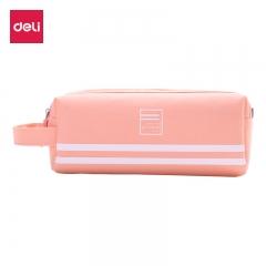 得力(deli)大容量手提多层笔袋/多功能牛津布铅笔收纳袋 粉色66772