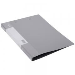 得力(deli)高档磨砂款A4金属双强力夹硬文件夹 试卷资料夹诗朗诵签约夹板 文件收纳办公用品5112浅灰色