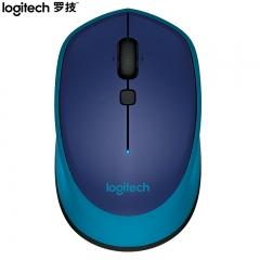 罗技(Logitech)M336(M337) 鼠标 无线蓝牙鼠标 办公鼠标 对称鼠标 蓝色