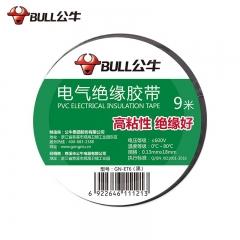 公牛(BULL)电气胶布PVC电工绝缘胶带 阻燃耐低温 黑色9米 10只装
