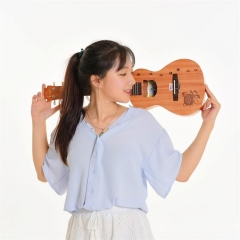 UKU喵C尤克里里ukulele乌克丽丽小吉他乐器YY民谣23寸桃花芯初学者