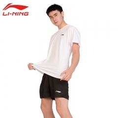 李宁LI-NING运动服套装男新款羽毛球服T恤短袖SP805-1夏季乒羽服 SP503-2+SP805-1 S