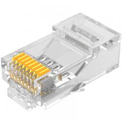 山泽(SAMZHE)工程级六类千兆网络屏蔽水晶头 10个/盒 RJ45网线8P8C网线接头 FTP铜壳PB6010