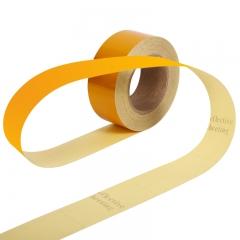 趣行 黄色反光条警示胶带 宽5cm长45米 消防安全警戒线隔离带标识 电线杆墙贴地板贴标志反光膜