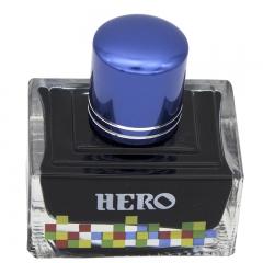 英雄(HERO)钢笔/签字笔钢笔墨水 非碳素染料型彩色墨水系列 7102彩墨蓝黑色