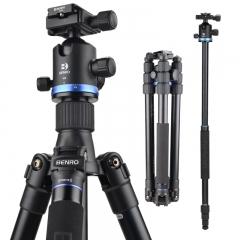 百诺(Benro)三脚架 IF28+ 单反三脚架佳能尼康相机 可反折转独脚架 超强锁紧 稳定便携云台套装