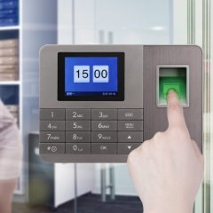 得力(deli)33154 智能指纹考勤机 免软件脱机打卡机