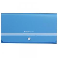 金得利(KINARY) DC1802 水果色风琴包票据包 蓝色
