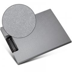 齐心(Comix) A723 美石系双折式书写板夹A4 亚银