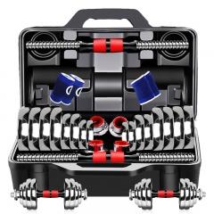 诚悦电镀哑铃杠铃30kg(15公斤*2)男女士体育运动健身器材家用组合套装CY-128