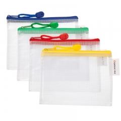 齐心(Comix) 10个装 A1058 防潮网格拉链袋 A6文件袋