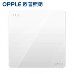 欧普照明(OPPLE)开关插座面板家用暗装墙壁一开单纯平圆角86型墙式开关 k12白色 一开单