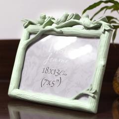花间集 相框 婚纱照专用影楼摆台创意礼品 鸟之语7英寸横款 豆青色