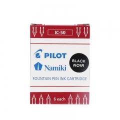 日本百乐(PILOT)6支装 黑色 IC-50 钢笔墨囊 一次性墨胆原装进口 2盒起售