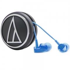 铁三角 CLR100 入耳式运动耳机 蓝色 手机耳麦 立体声耳机