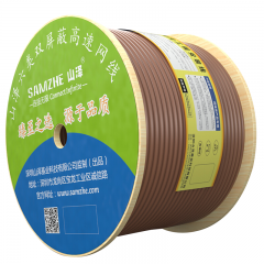 山泽(SAMZHE)六类双屏蔽网线【商用版】智能工程 CAT6类千兆网线无氧铜高速网线 棕色305米 SFTP-6305