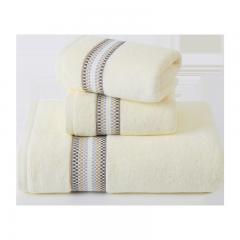 孚日洁玉纯棉毛巾浴巾套装 纯棉吸水成人情侣男女家用毛浴巾 毛巾*2+浴巾*1 米色