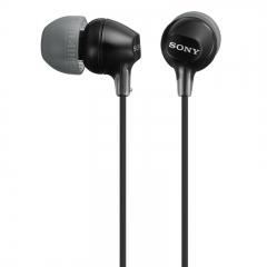 索尼(SONY) MDR-EX15LP 小巧入耳式耳机,佩戴舒适 半透明果冻色渐变机身 黑色