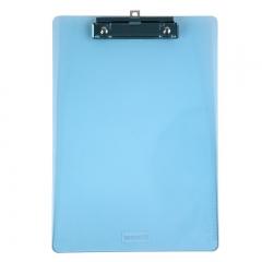 齐心(Comix) A4便携式书写板夹 可吊挂垫板 A744 透明蓝 单个装