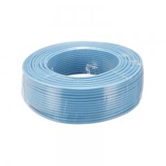 金山(JINSHAN)国标阻燃单芯塑铜线 硬线 电线 电缆 ZR-BV4平方 蓝100M/盘
