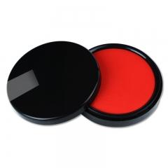 西玛(SIMAA) 秒干印台印泥红色 φ95mm圆形塑壳 财务印章印台专用9804
