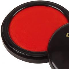 齐心(Comix)直径68mm红色圆形高清快干印台小号 办公文具B3704