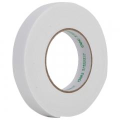得力(deli)强力高粘度EVA泡棉双面胶带 24mm*5y*2.5mm 12卷袋装 办公用品 白色30412