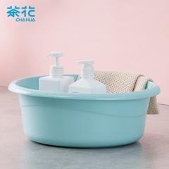茶花 CHAHUA塑料洗脸盆子洗衣盆39CM时尚通用盆 03391K