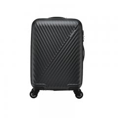 美旅拉杆箱 24英寸时尚商务男女行李箱 超轻万向轮旅行箱密码锁AX9黑色