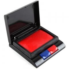 齐心(Comix)方形红蓝双色快干印台 办公文具B3710
