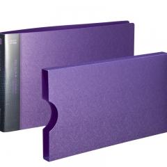 齐心(Comix) A611 美石系财务增值税发票夹/票据夹/单据文件夹 配外壳 珠紫